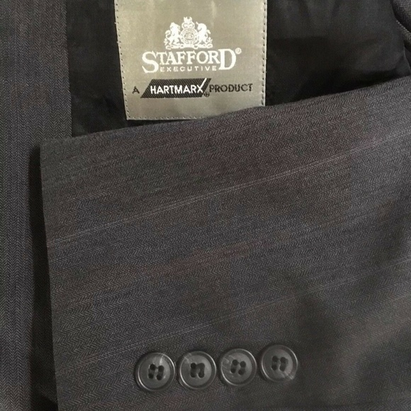 Stafford Other - Stafford Mens Suit Gray 42L Pants 36x32